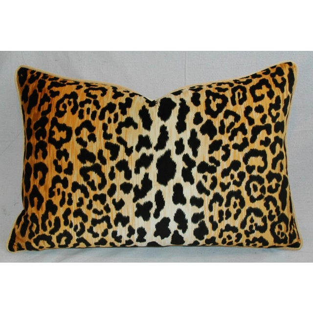 "Hollywood Glam Leopard Spot Safari Velvet Pillows 26"" X 18"" - Pair For Sale - Image 11 of 14"