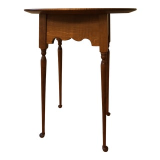 1990s River Bend Ltd Tiger Maple Side Table For Sale