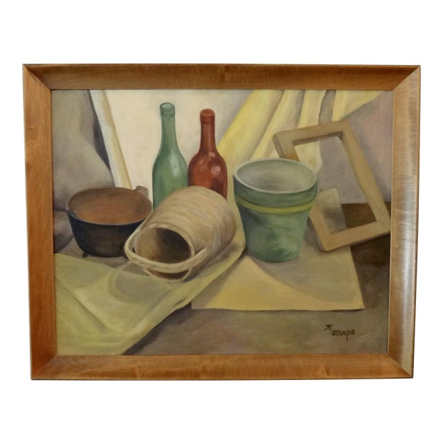 Mid-Century Still Life Painting by K. Stamps - Image 1 of 5
