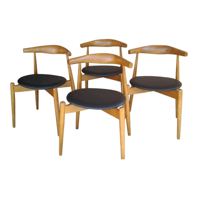 "Danish Modern 'Hans Wegner' ""Ch20"" Elbow Chairs - Set of 4 For Sale"
