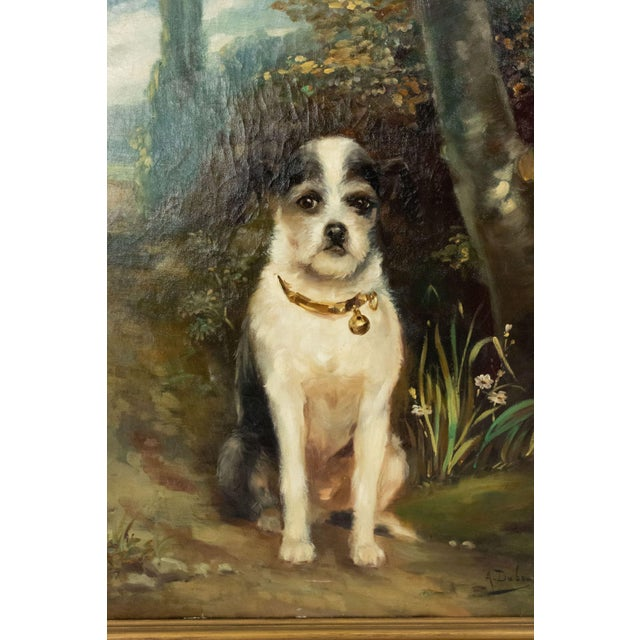 French Victorian Terrier Oil Painting For Sale - Image 4 of 7