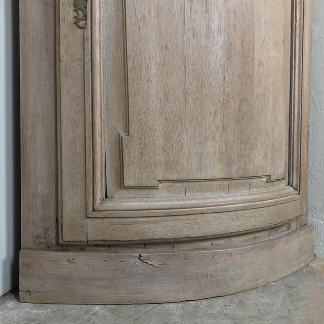 Pair 19th Century Country French Stripped Oak Corner Cabinets For Sale - Image 11 of 13
