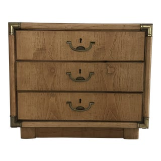 Campaign Style Small Chest of Drawers by Drexel For Sale
