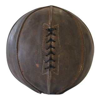 Early 20th C. Antique Leather Sport Ball For Sale