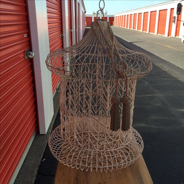 Vintage Shabby Chic Bird Cage - Image 5 of 9