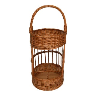 Vintage French Picnic Basket For Sale
