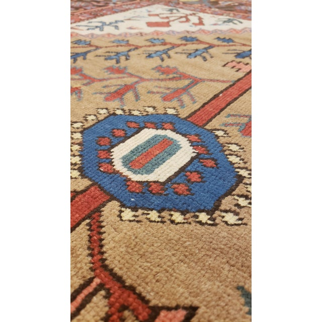 """Antique Serapi Bakhshayesh Rug-4'6x6'6"""" For Sale - Image 4 of 12"""