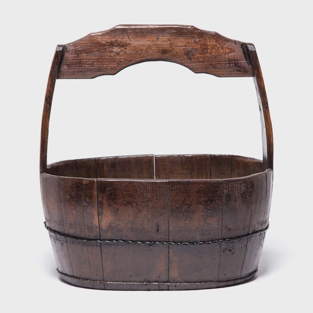 Asian 19th Century Chinese Burden Bucket For Sale - Image 3 of 7