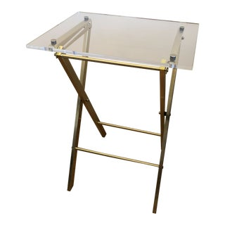 CB2 Novo Acrylic Folding Table For Sale