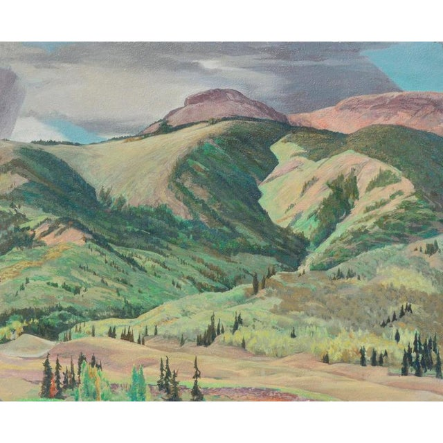 A vivid plein air landscape of Catskill Mountains by Wilfred A. Readio (American, 1895-1961), circa 1925. Wilfred A....