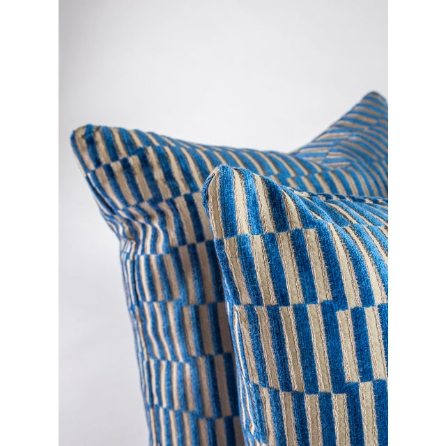 """2010s 18""""x 18"""" Geometric Manuel Canovas Down Pillows For Sale - Image 5 of 8"""