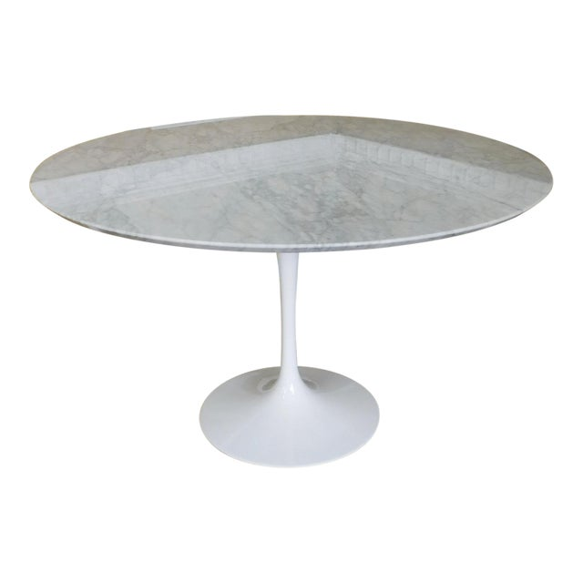 Room Board Eero Saarinen Collection Carrara Marble Top Tulip - Saarinen carrara marble table