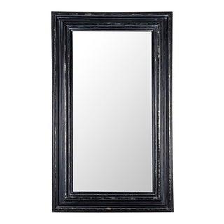 Cordelia Mirror, Hand Rubbed Black w/ Gold Trim For Sale