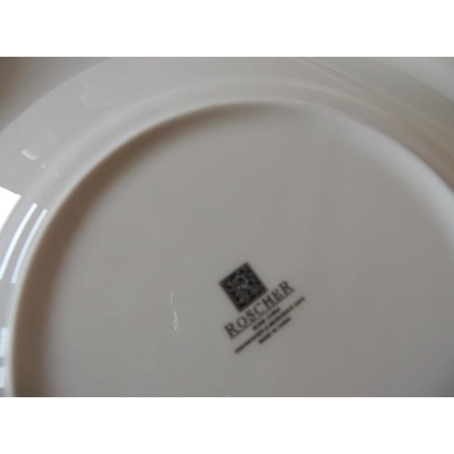 Set of (3) Floral Bone China Dessert Plates For Sale - Image 4 of 5