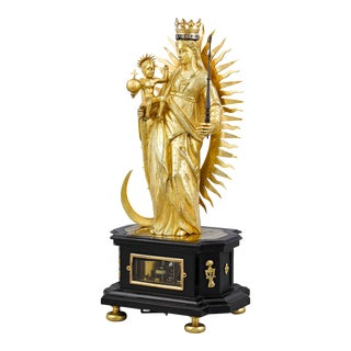 Madonna and Child Renaissance Table Clock For Sale