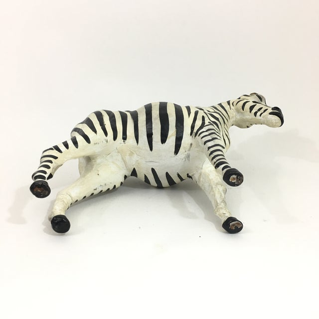 Hand Painted Leather Zebra Figure For Sale - Image 9 of 10