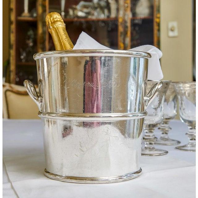 Art Deco Reed & Barton Silverplate Moana Hotel, Hawaii Champagne Bucket For Sale - Image 3 of 9