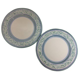 Artistica Italy Ceramic Display Chargers - A Pair For Sale