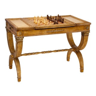 Reversible Gaming Partners Table - Neoclassical Style For Sale