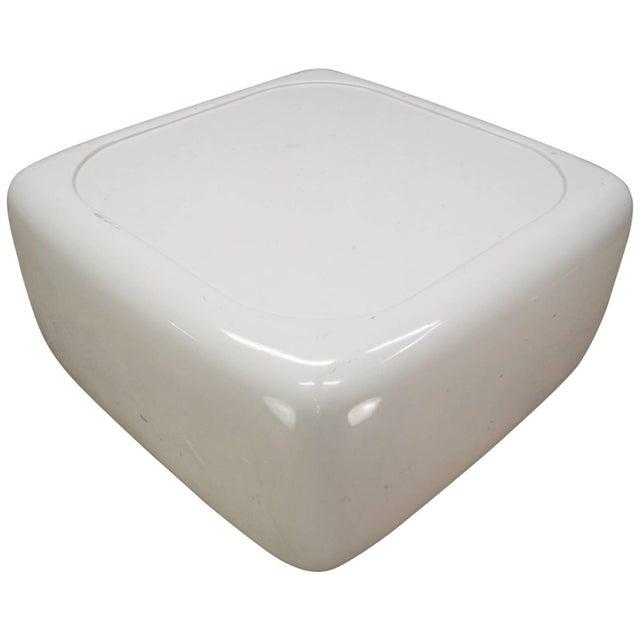 White Levitating Fiberglass Mushroom Table William Andrus Midcentury as Wendell Castle For Sale - Image 8 of 8