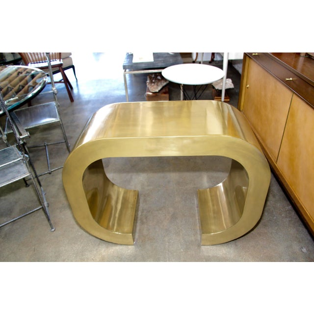 Early 21st Century Bridges Over Time Originals Brass Coated Console For Sale - Image 5 of 10