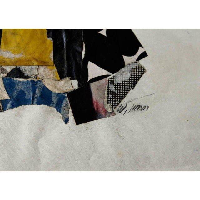 Paper and Adhesive collage by Wayne Timm. measures 11 1/2 x 15 3/4 in. In the 1960's, Wayne Timm rubbed elbows with the...