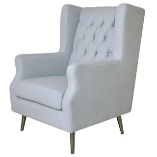 Modern Pasargad Home Sky Blue Thomas Armchair For Sale