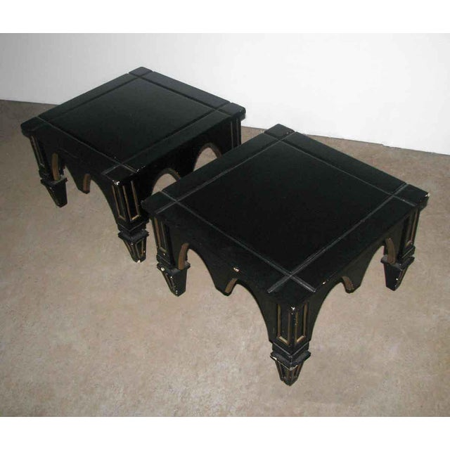 Ebonized Gothic Style End Tables - A Pair For Sale - Image 6 of 10