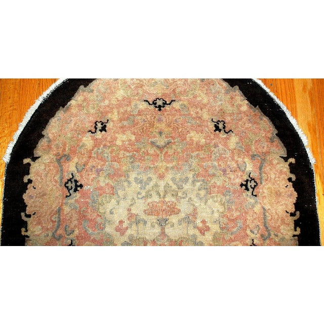 1920s Hand Made Antique Art Deco Chinese Rug - 2′10″ × 4′10″ For Sale - Image 5 of 6