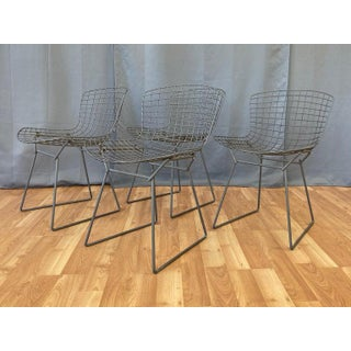 Set of Four Bertoia for Knoll Grey 420c Side Chairs, Early 1980s Preview