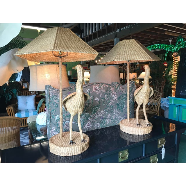 Mario Lopez Torres Heron Lamps-Pair For Sale - Image 9 of 12