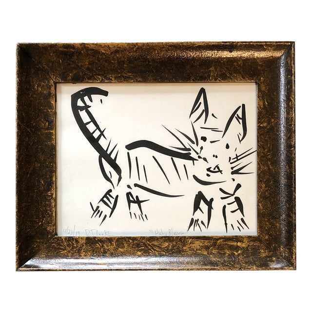 Original Contemporary Abstract Robert Cooke Cat Painting For Sale