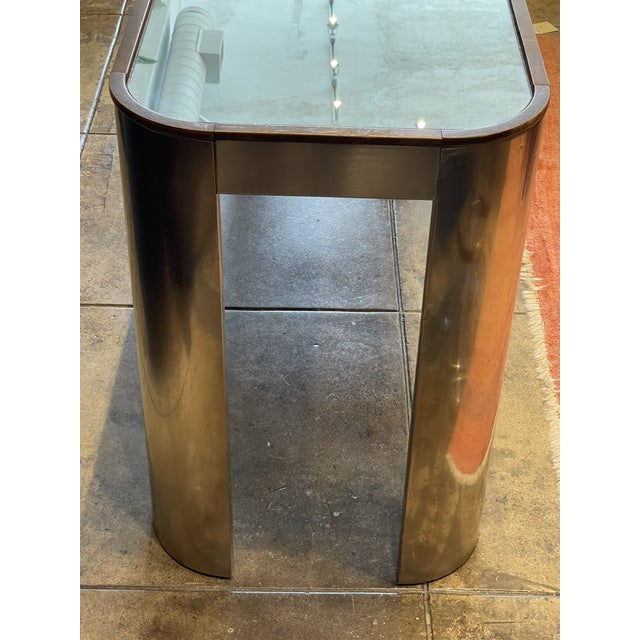 Mid 20th Century 1970s Chrome and Mirror Console Table For Sale - Image 5 of 13