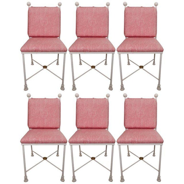Painted Metal Dining Chairs - Set of 6 For Sale - Image 12 of 12