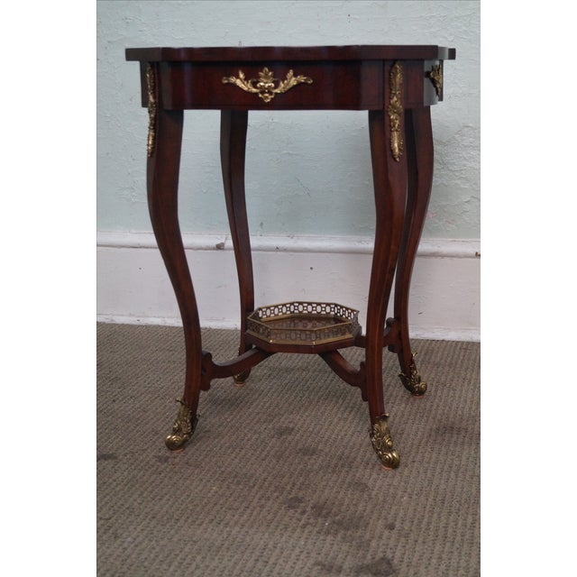 Maitland Smith Louis XV Style Brass Ormolu Side Table - Image 7 of 10