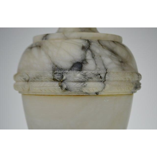 Vintage Carved Alabaster Table Lamp - Image 8 of 10