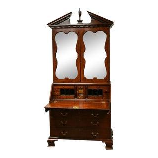 George III Mahogany Secretary Bookcase circa 1765 For Sale