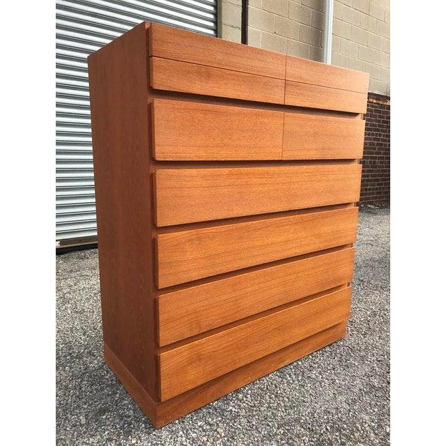 Danish Teak Tall Dresser - Image 2 of 7