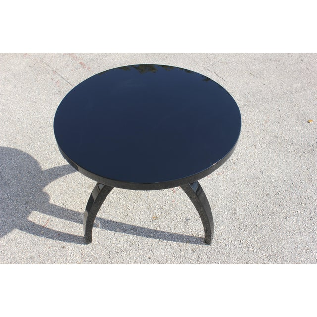 French Art Deco Black Lacquer ''Spider Leg'' Side Table - Image 8 of 10