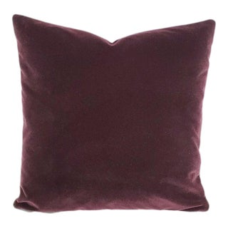 "Pollack Sedan Plush in Imperial Purple Pillow Cover - 20"" X 20"" Dark Purple Velvet Cushion Case For Sale"