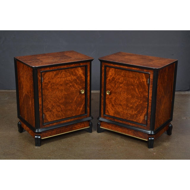 Austrian Art Deco Burled Walnut Side Tables - a Pair - Image 4 of 10
