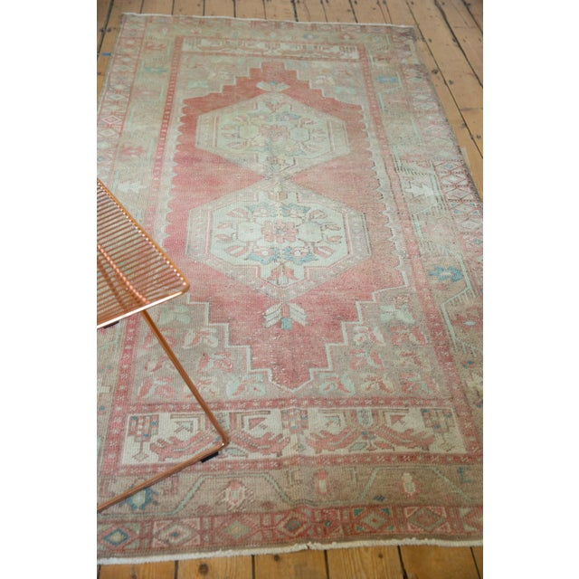 """Vintage Distressed Oushak Rug Runner - 4'3"""" X 8'4"""" For Sale In New York - Image 6 of 13"""
