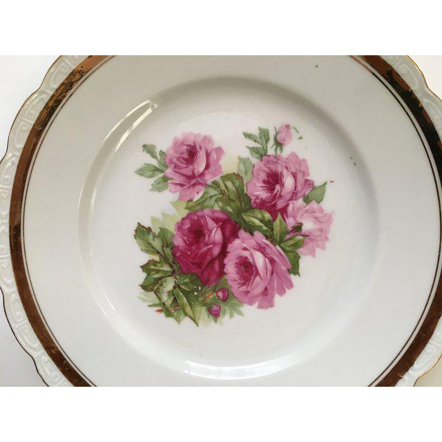 Scallop Edged Rose Plates - Set of 4 For Sale - Image 4 of 6