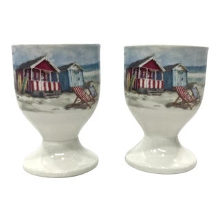 Coastal Themed Egg Cups - A Pair