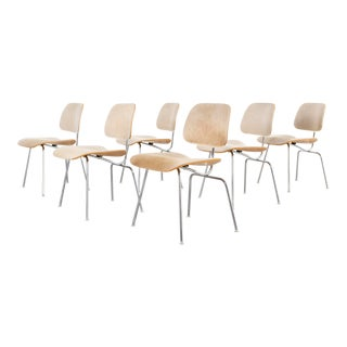 Eames for Herman Miller Dcm Chairs in Brazilian Cowhide For Sale
