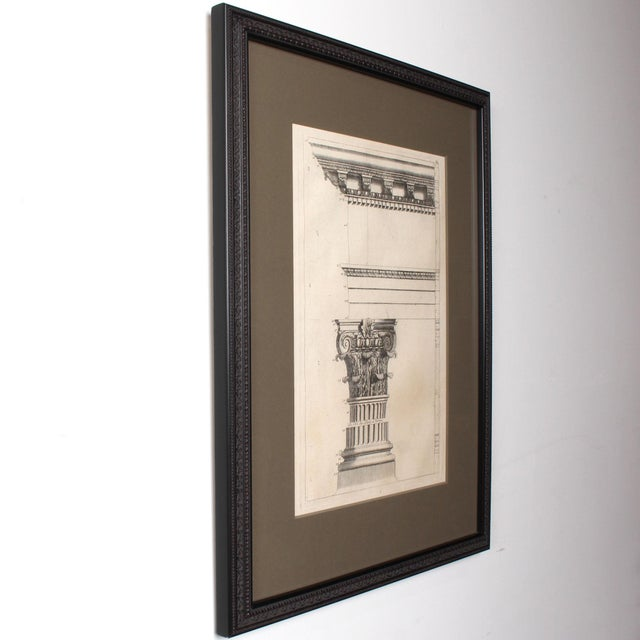 Neoclassical 19th C. Framed Antique Architectural Etching Porta Leoni For Sale - Image 3 of 6