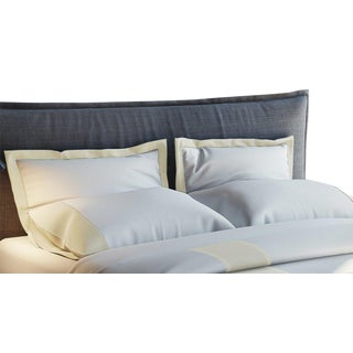 Monte Carlo Banded Pillowcases Standard - Limestone For Sale