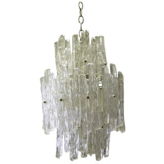 Lucite Icicle Chandelier For Sale