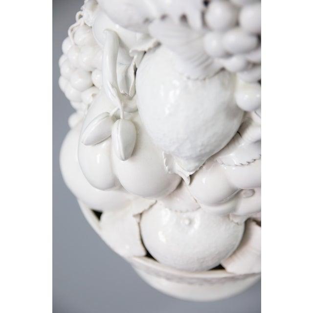 Italian White Creamware Fruit Topiary Centerpiece For Sale - Image 10 of 11