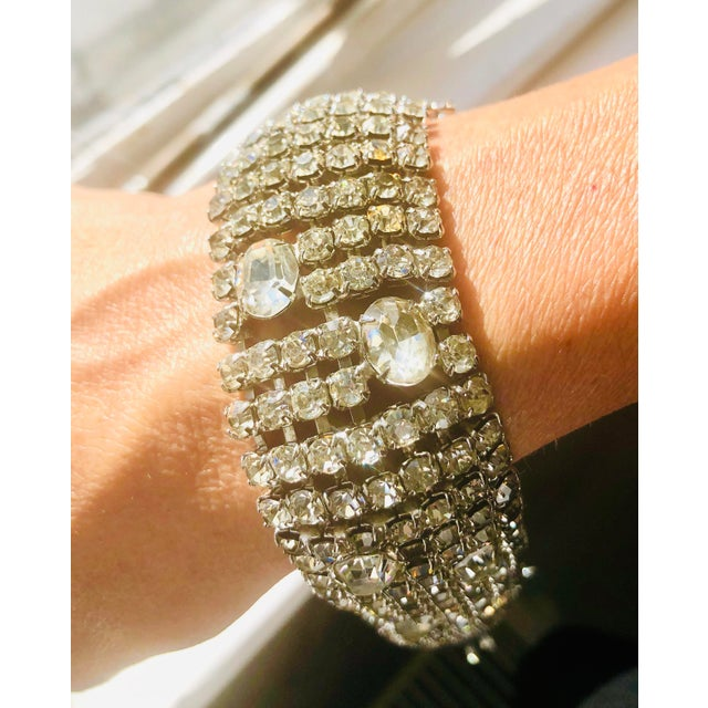 Crystal Stunning Weiss Crystal Encrusted Bracelet For Sale - Image 7 of 12